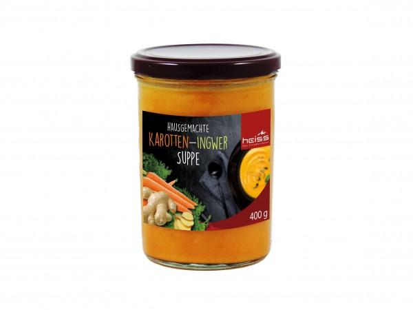 Hausgemachte Karotten-Ingwer-Suppe